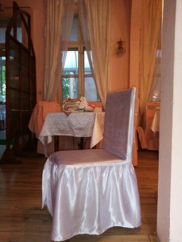 Stona lampa - Zajecar: Na prodaju navlake za stolice od belog krep satena.cena 600 din po