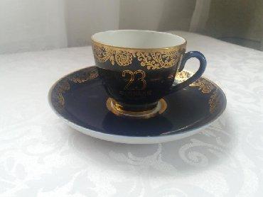 Антиквариат в Лебединовка: Чайная пара ЛФЗ кобальт позолота. Подарочная к 23 февраля
