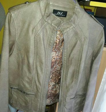 Braon jaknica od eko kože. Veličina L. - Vranje