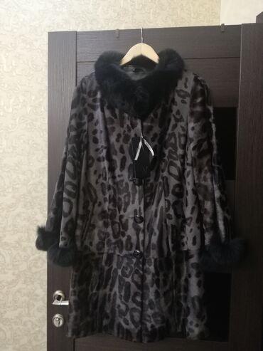 слип без рукавов в Кыргызстан: Новое натуральное меховое пальто, мех Антилопы, на воротнике и рукав