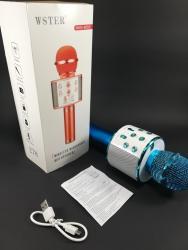 Sport i hobi - Bela Palanka: Karaoke mikrofon bluetooth sa zvucnikom WS-858 plavi  Karaoke mikrofon