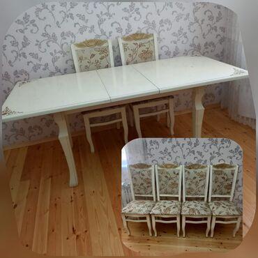 Masa desti təcili satılır .Masa açılan 6 stullaQiymət 200 AZN Ünvan