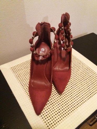 Ženska obuća | Bor: JOS VECE SNIZENJE. NOVO. Bordo cipele od velura. prelepo