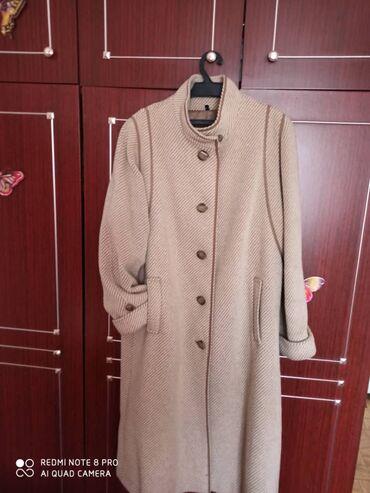 пальто лама в Кыргызстан: Пальто (шерсть ламы), размер 50, рост 3