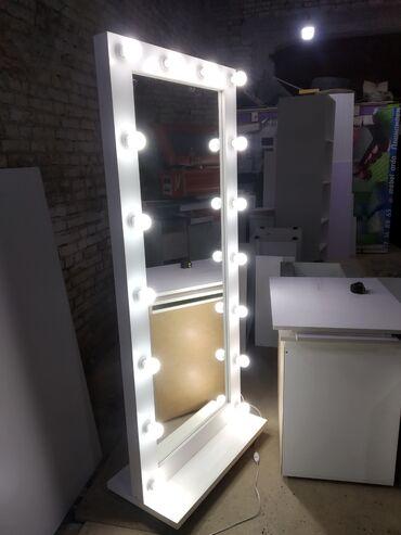 купить письменный стол в бишкеке в Кыргызстан: Гримерные зеркала с подсветками в полный рост.  Размеры: 180х80см (90%