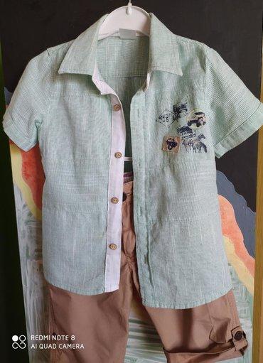 летние шорты в Кыргызстан: Летний костюм на мальчика, шорты и рубашка отличного качества, х/б