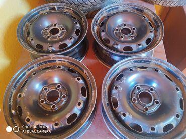 диски литые r16 5х 114 3 в Кыргызстан: Продаю диски стальные 4шт 5/100 6jx14H2 ET37 d57.1 подходит на гольф
