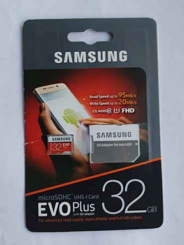 lancer - Azərbaycan: Mikrokart Samsung 32 Gb Evo Yaddaş Kartı Klass 10Sürət 95 Mb /SanDiger