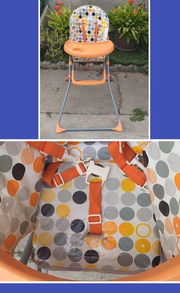 Stolica za hranjenje - Srbija: Stolica za hranjenje bebe! Ima ostecenje oko kaisa (malo pocepano. za