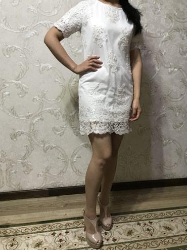 Продаю белоснежное платье из французкого гипюра в Бишкек