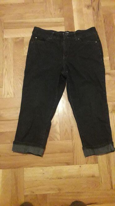 Ženska odeća | Pozarevac: Farmerke 3/4, kupljene u Americi, sa dosta elaszina., velicina L i