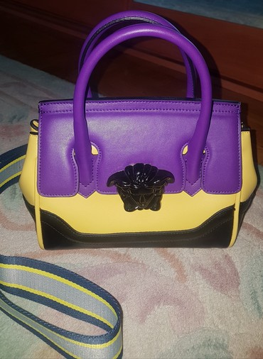 Versace palazzo empire shoulder bag, yellow purple. Versace torba - Belgrade