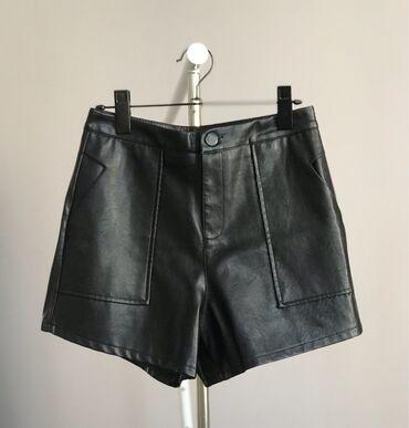 Шорты - Бишкек: Новые шорты под кожу. Размер S, сидят идеально