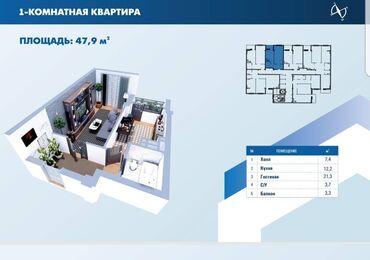 продам авто в рассрочку in Кыргызстан | MERCEDES-BENZ: Элитка, 1 комната, 48 кв. м