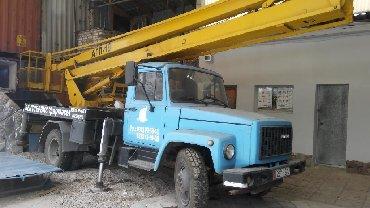 Транспорт - Мыкан: Автовышка АГП-18 на базе ГАЗ 53