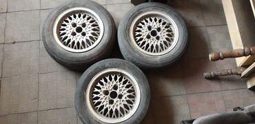 купить литые диски r14 4 98 бу в Кыргызстан: Шины Р14 разбалтовка 4×100. 3шт R14  #passat #bmw #golf #e30
