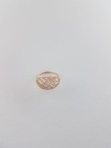 Кольца из красного золота 585проба Вставка циркон Размер кольца 20.0 в Бишкек