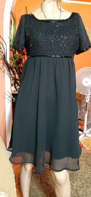 Prelepa crna haljina vel 38