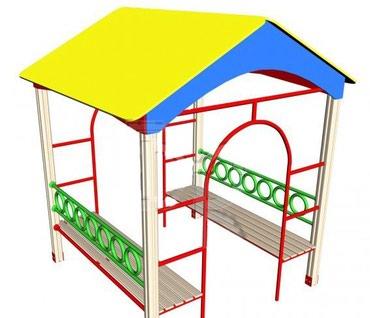 Беседка детская для детского сада Размер: 1500*1200*1700 мм  в Бишкек