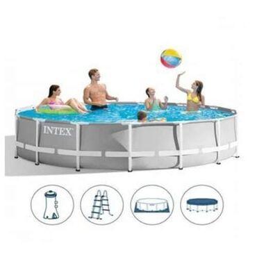 Porodični bazen za dvorište Intex 457x107cm sa kompletnom opremomOvaj