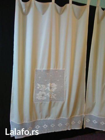 zavese, novo, bez platno i heklano, dimenzije 150x85, cena he za obe z - Beograd