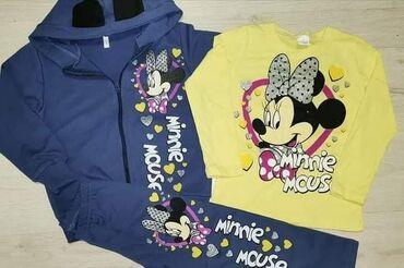 Prelepi Minnie kompletići za devojčice! Helanke, duks jaknica + bluza