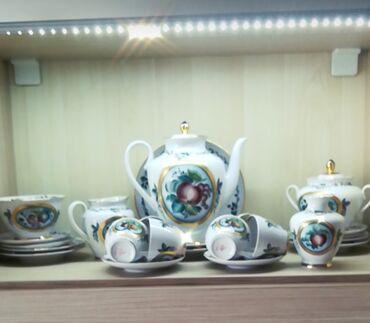 Продаю чайный, кофейный новый сервиз из фарфора из 24 предмета, куплен