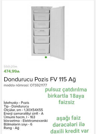 dondurucu - Azərbaycan: Nəğd satış Kredit varBirkart və bolkart.la 18 aya faizsiz