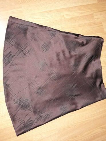 Suknja-hm-pamuk-elastin-cm-struk - Srbija: SNIZENJEEEE. Divna,tamno braon suknja,duz.60 cm,struk 40 cm