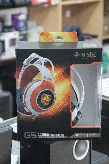 Model: Misde G5 Gaming HeadsetQoşulma: USB/3.5mm jack (işıqlı)Mağazada