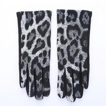 Длинные леопардовые перчатки