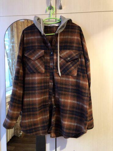 Рубашка оверсайз в идеальном состоянии одели один раз. Тёплая