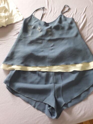 Ženska kućna odeća - Novi Sad: BEBI DOL, plava pidžama, materijal žoržet, veličina S