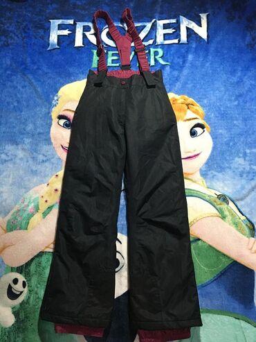 Ski pantalone,vel.146/152(11-12 god.).Bez oštećenja,tamno sivo,bordo