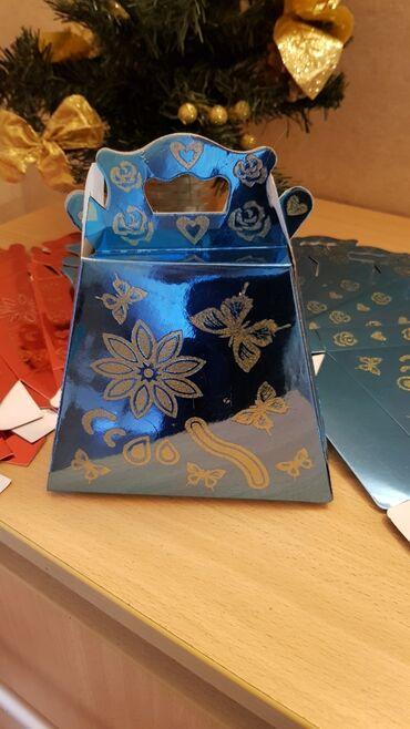 Мини подарочные упаковки!!! 4 красного цвета, 9 синего цвета!!! За все