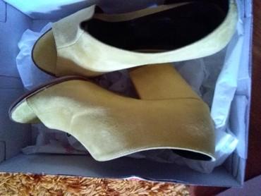 Cipelice velur zuti,nove nikad nosene,38 broj - Sombor - slika 8
