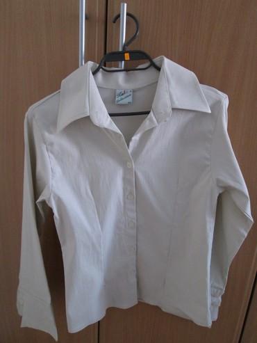 Nova krem košulja br. 40. Materijal 75% pamuk, 25% likra. Robu - Novi Sad