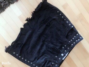 Crna dzins suknjica nova 10 velicina supree