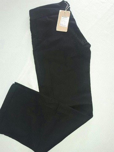 Nesal jeans - Srbija: Nove crne lanene pantalone. NESAL Vel. 34
