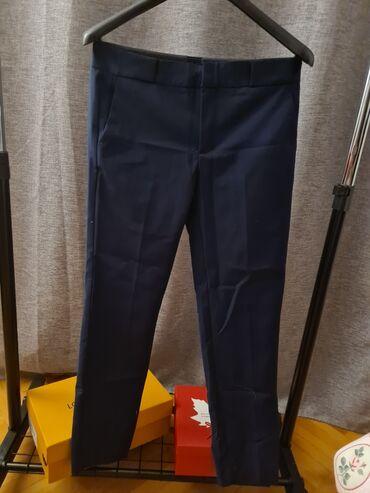 Ženske pantalone - Srbija: Mango teget pantalone, skroz nove, jos imaju etiketu, velicina 38
