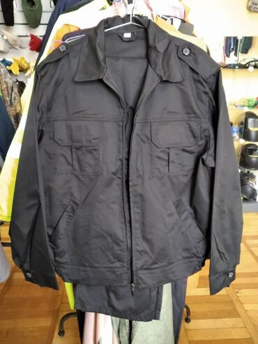 Костюм Охранник черный, (куртка+брюки) размер 50, 54, 58 спецодежда сп