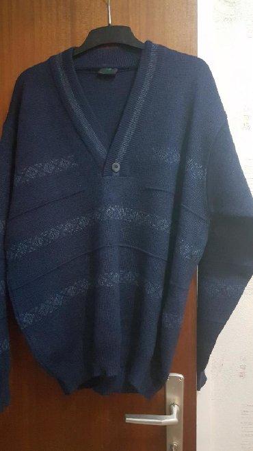 Ženska džemperi - Srbija: NOV. Prelep dzemper,teget boja,50%vuna,50%poliakril, kvalitetan,iz