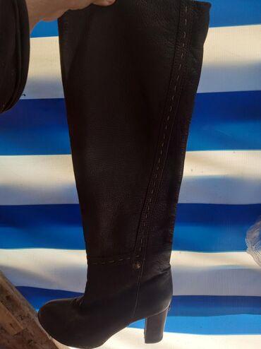 Кожаные импортные женские сапожки,36 размер,качество отличное
