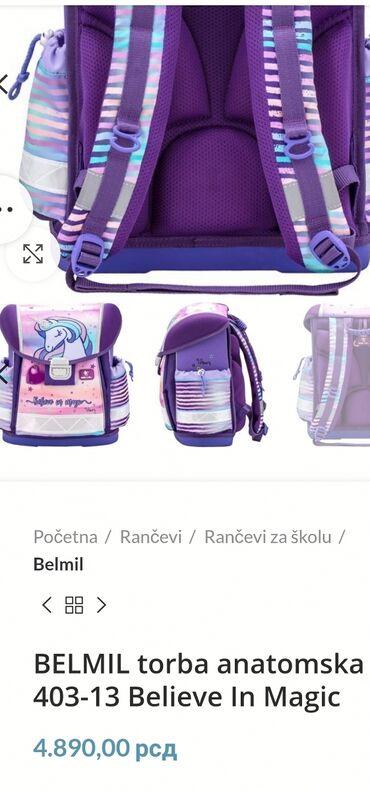 Za decu - Srbija: REZERVISANA!  Belmil anatomska školska torba! Korištenja veoma malo u