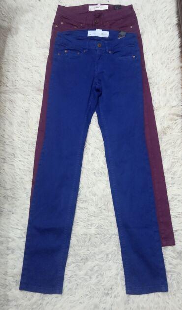 HM teget i bordo pantalone veličina 36, materijal pamuk 98%, elastin