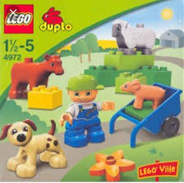 Farma krava - Srbija: Lego duplo set 4972.pas prase ovca krava. kso nove kockice.bez kutije