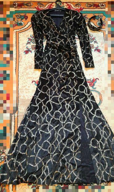 Размеры 44.48 новые.Вечернее золотое платье с ободком1000с.оочень