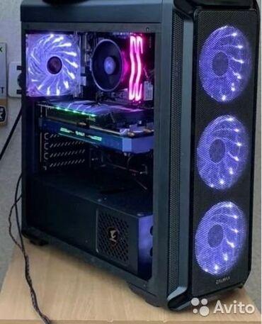 мат плата в Кыргызстан: Красивый игровой компьютер с RGB посветкой.  Комплектующие:  Видеокарт