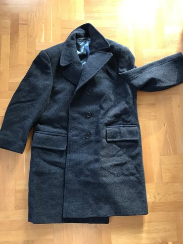 Zimski-kaput-evropska - Srbija: Muski kaput skoro nov, pravi zimski - krojen po meri. Duzina kaputa