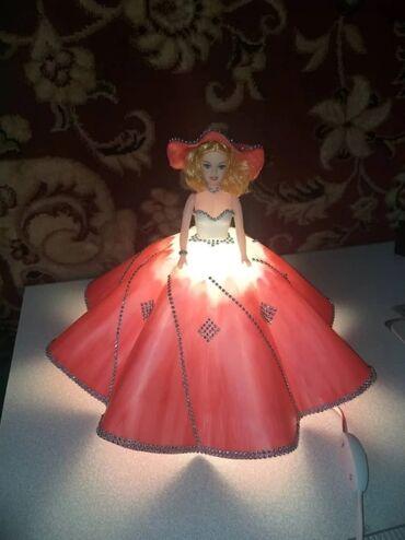 Подарок на 8 марта Светильник в виде куклы из изолона